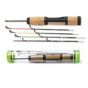 Удочка зимняя Akara 60098-4 пробковковая ручка + 4 хлыста в тубусе