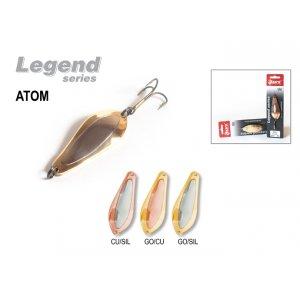 Блесна колебалка Akara Legend Atom со вставкой