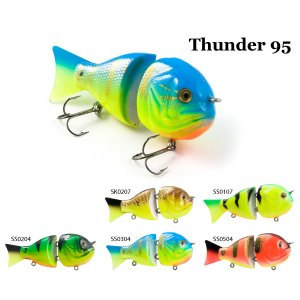Воблер деревянный RAIDEN Thunder 95F