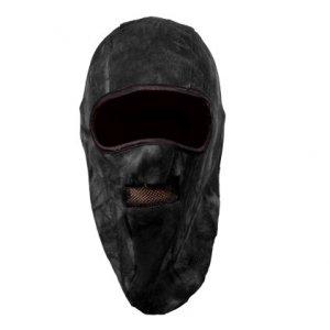 Шапка-маска флис. 2 отверстия + сетка чёрная