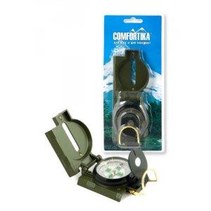 Компас Comfortika DC45-2B металлический жидкостный с линейкой