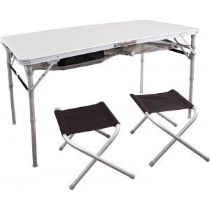 Стол Indigo 9311 120х60 см складной + 4 стула