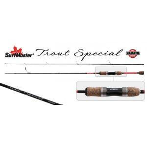 Спиннинг штекерный угольный 2 колена Surf Master K1226 Trout Special TX-20