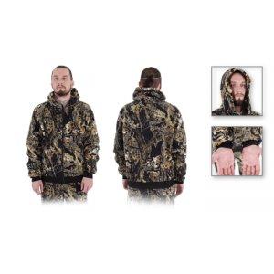 Куртка М-0102 Темный Лес флис с капюшоном