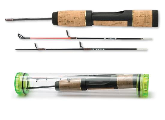 Удочка зимняя Akara 60098-2 пробковая ручка + 2 хлыста в тубусе