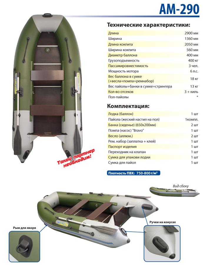 Лодка моторная Адмирал эконом класса АМ-290 Admiral Boats