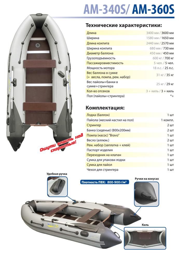 Лодка моторная Адмирал серия SPORT АМ-340S Admiral Boats
