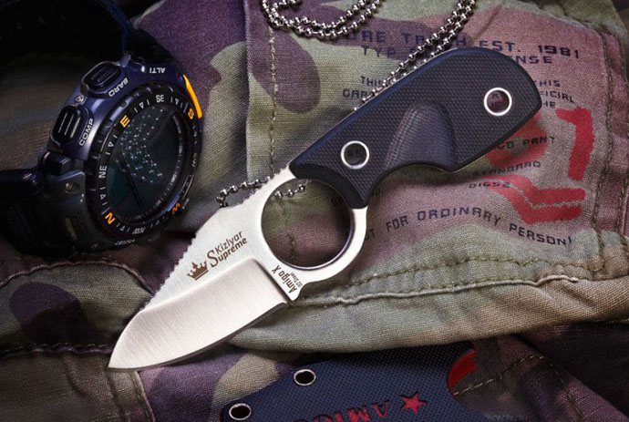 Нож Amigo-X Полированный D2 Kizlyar Supreme