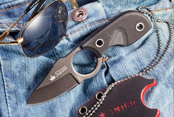 Нож Amigo-X Черный D2 Kizlyar Supreme