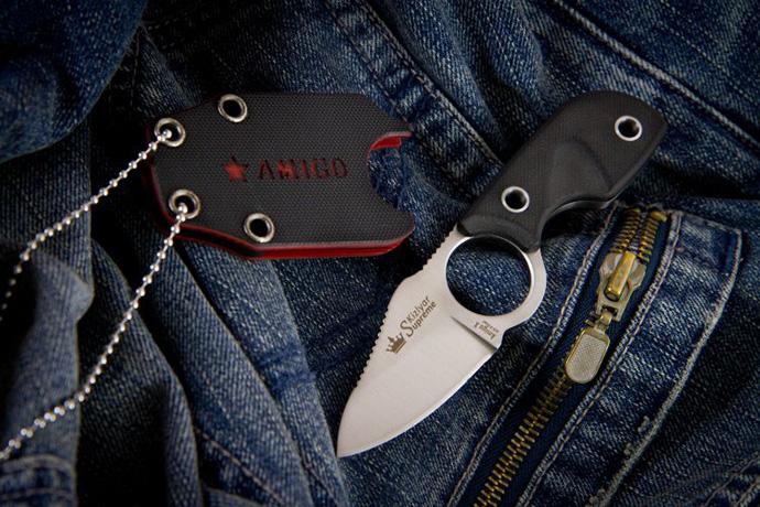 Нож Amigo-X Полированный AUS8 Kizlyar Supreme
