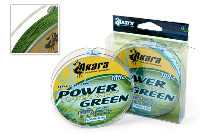 Шнур Akara Power Super Soft Green 100 м