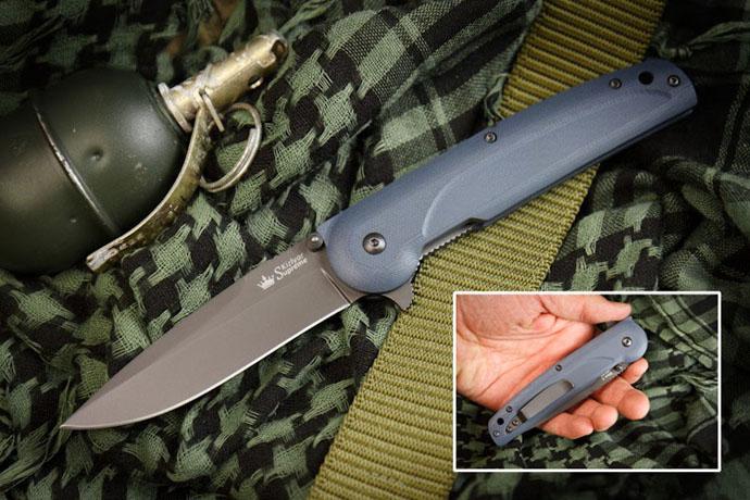 Нож Biker-Z Чёрный титан AUS8 Kizlyar Supreme