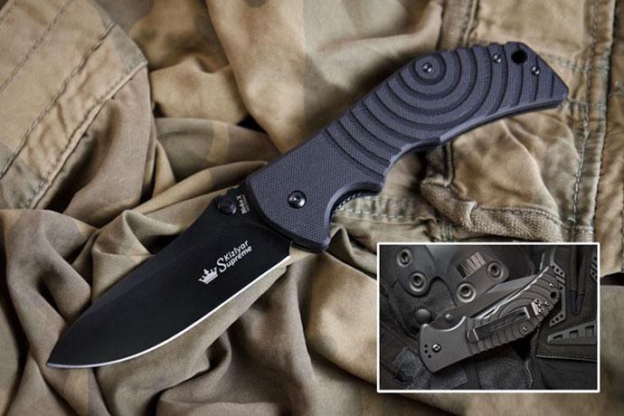Нож Bloke-X Чёрный AUS8 Kizlyar Supreme