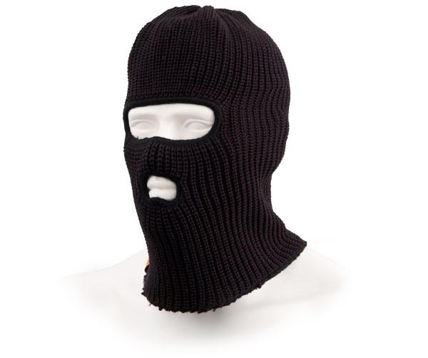 Шапка-маска Tagrider Expedition 3010 2 отверстия вязанная черная