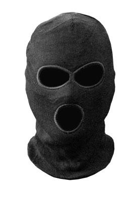 Шапка-маска TR вязан. черн. 3 отверстия Tagrider