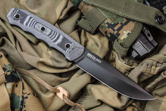 Нож Echo Черный AUS8 Kizlyar Supreme