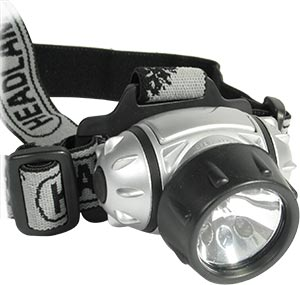 Фонарик Comfortika налобный 6 светодиодов + 1 лампа