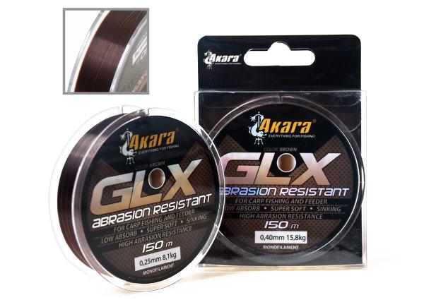 Леска Akara GLX Abrasion Resistant Brown 150 м