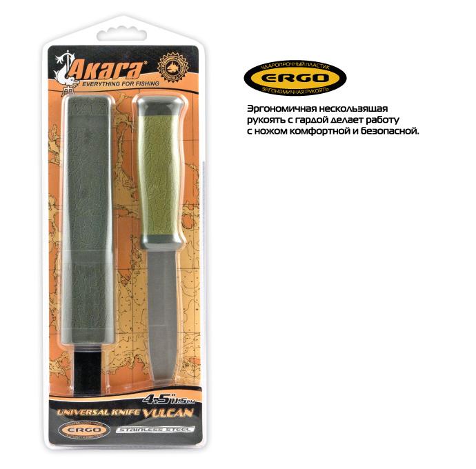 Нож Akara Vulcan KN1 11,5 см пластиковый чехол