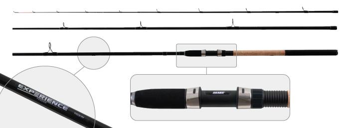 Удилище штекерное угольное фидерное 3 колена Akara L1235 Experience Feeder TX-20