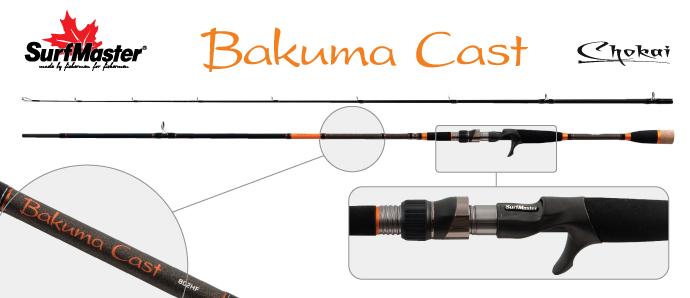 Спиннинг штекерный угольный 2 колена Surf Master LC1231 Chokai Series Bakuma TX-20 Surfmaster