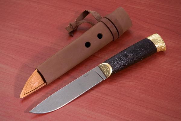 Нож Бичаг (полированный латунь граб) Kizlyar