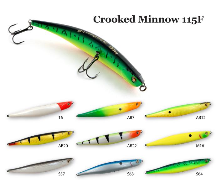 ������ Raiden Crooked Minnow 115F
