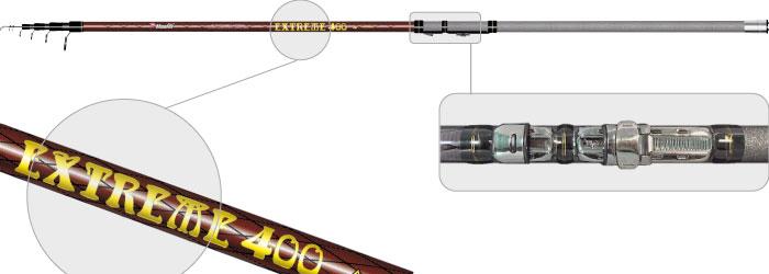 Удилище телескоп угольное д/с Surf Master 1819 Extreme 5,0 м Surfmaster