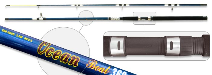 Спиннинг штекерный стекло 2 колена Surf Master 1383 Ocean Surfmaster