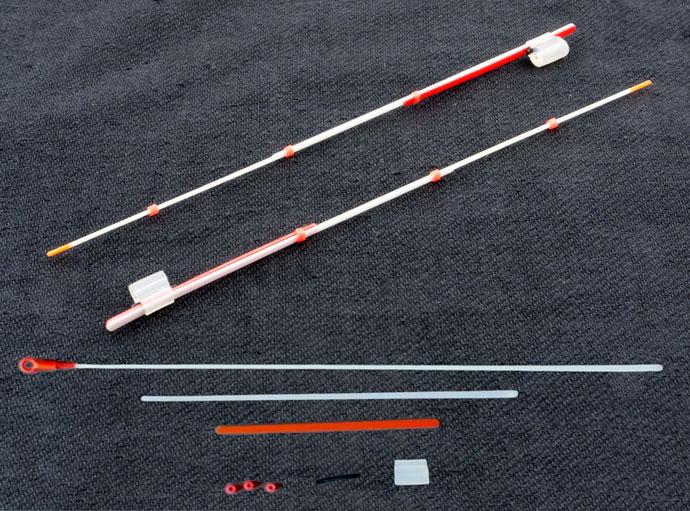 Кивок лавсановый тройной на силиконе NOD S-LS18 Akara