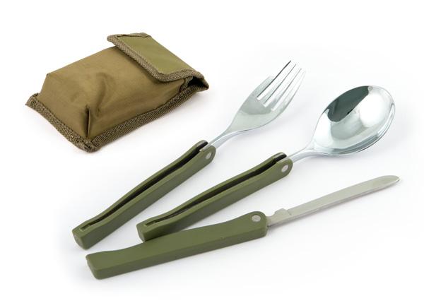 Набор походный COMFORTIKA (ложка+вилка+нож) в чехле K9003
