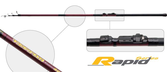 Удилище телескоп угольное д/с Surf Master 7011 Rapid Series Vector IM6 Surfmaster