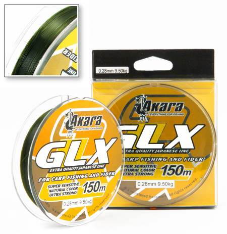 Леска Akara GLX Green зеленая 150 м
