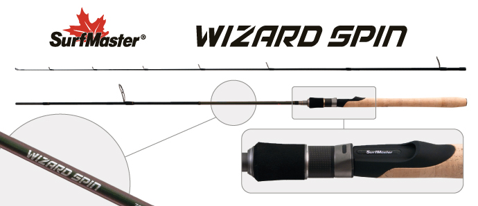 Спиннинг штекерный угольный 2 колена Surf Master SP1121 Wizard Spin Surfmaster