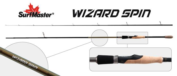 Спиннинг штекерный угольный 2 колена Surf Master SP1123 Wizard Spin Surfmaster
