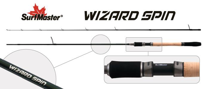 Спиннинг штекерный угольный 2 колена Surf Master SP1124 Wizard Spin Surfmaster
