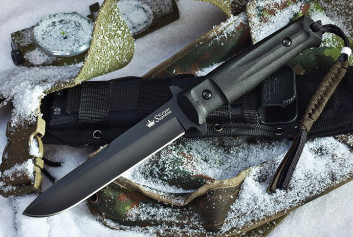 Нож Trident Черный AUS8 Kizlyar Supreme