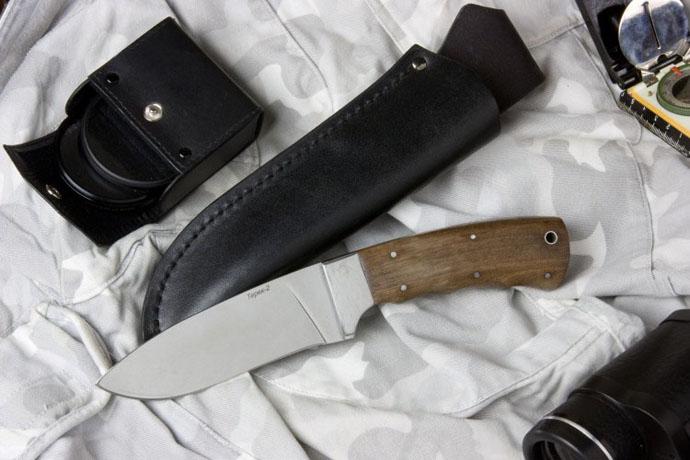 Нож Терек-2 (полированный дерево-орех) Z90 Kizlyar