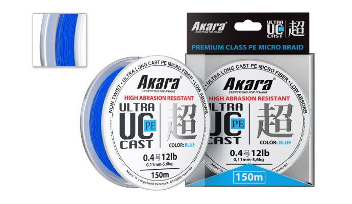 Шнур Akara Ultra Cast PE Micro Braid Blue