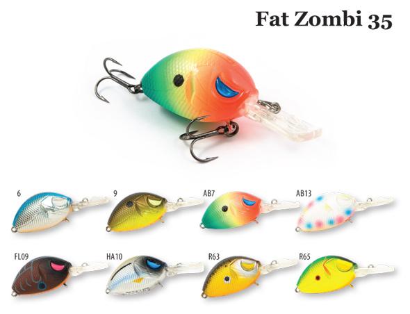 Воблер RAIDEN Fat Zombi 35