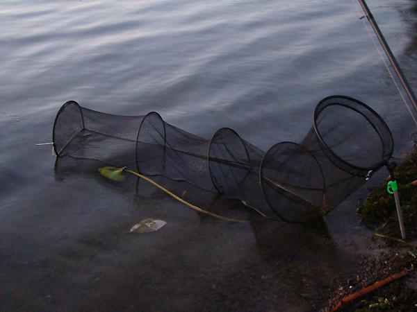 длинный садок для рыбалки