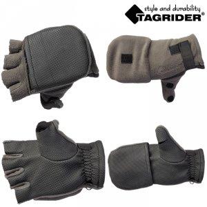 Рукавицы-перчатки Tagrider 0913-15 беспалые неопреновые флис темный графит