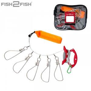 Кукан Fish2Fish с намоткой оранжевый