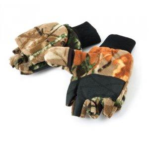 Рукавицы-перчатки TR 10612 с обрез. пальцами флис КМФ