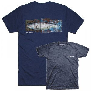 Футболка Simms DeYoung Seatrout T-Shirt Navy Heather