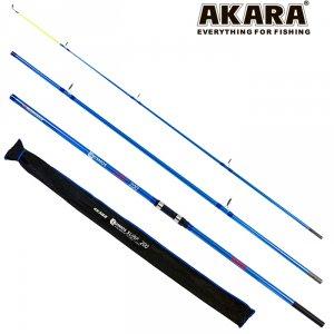 Спиннинг штекерный угольный серфовый 3 колена Akara 13009 Cosmos Surf CF 200 4,5 м