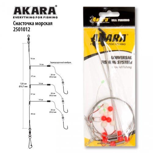 Снасточка морская Akara 2501012 KH10058 №16 Red