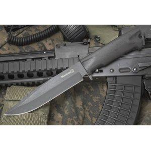 Нож Милитари (черный эластрон) 39333