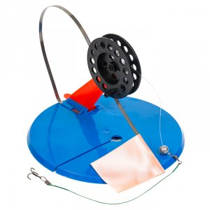 Жерлица зимняя БП-00003736 диаметр 19,5 см в сумке оснащенная (10 шт.)