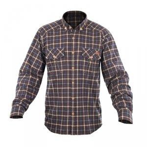 Рубашка с длинным рукавом Graff (хлопок, коричневый, клетка) 825-KO